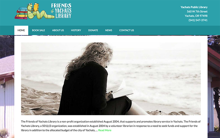Website Client - Friends of Yachats Library