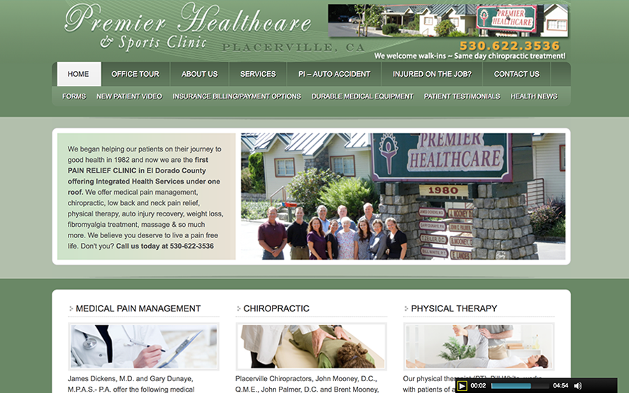 Website Client - Premier Healthcare Placerville