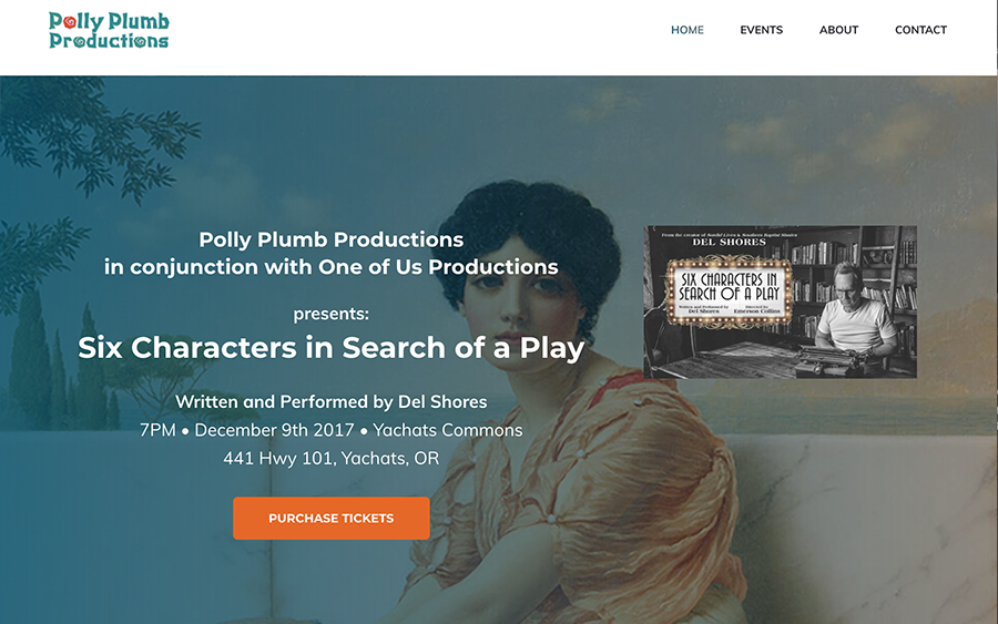 Website Client - Polly Plumb Productions